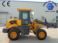 CE 1.5 ton small shovel loader with quick hitch,cabin with AC