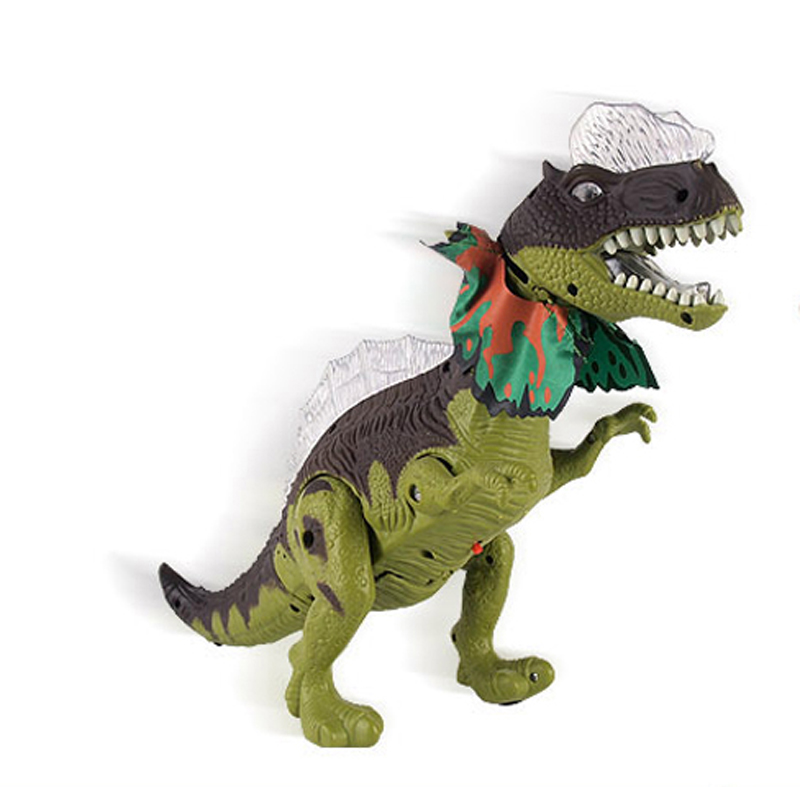 2017 Wholesale Electronic Dinosaur Toy <strong>w</strong>/Lights Sounds & Walking Action