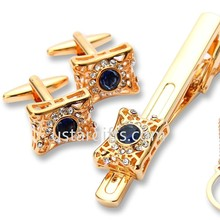 tie tack pin/ cufflink and tie pin set with chain