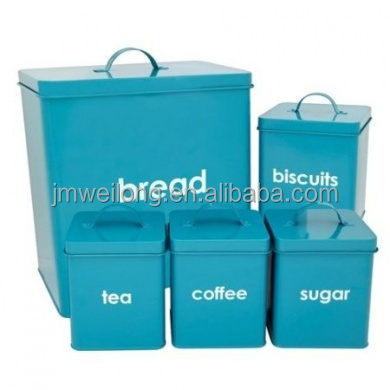 Decorative Customized Kitchen Canisters Set / Coffee Canister / Tea Canister