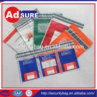 tamper evident security bag with security tape/document security bag/cloth bank bags