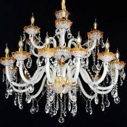 Corridor Circle Polished Nickel Chain Crystal Chandelier Cake Stand