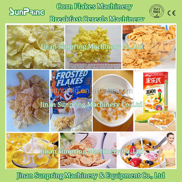 extrusion corn flour cereal breakfast and corn flakes snack machine