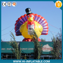 Hot sale cartoon inflatable turkey mascot for sale