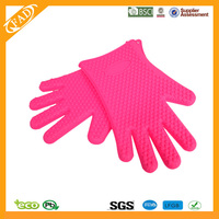 Dishwasher Safe No Staining or Smell Long-Term Use Waterproof Set 2 BPA-Free silicone high temperature oven mitt