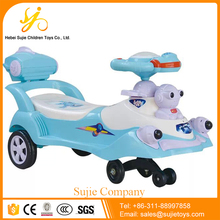4 wheel foot pushing baby swing car / Newest baby swing car / Baby Swing Car factory kids Twist toy Car
