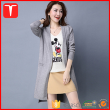 Trendy split cardigan womens long sweaters
