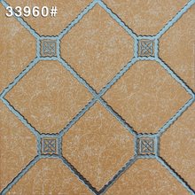 matte finish orange rustic bathroom ceramic floor tile