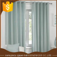 2018 Ready Made Blue Faux Silk Taffeta Blackout Curtains