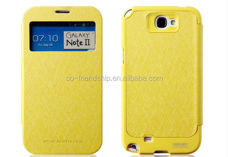 mercury goospery WOW Bumper View pu leather case for samsung galaxy note2 n7100