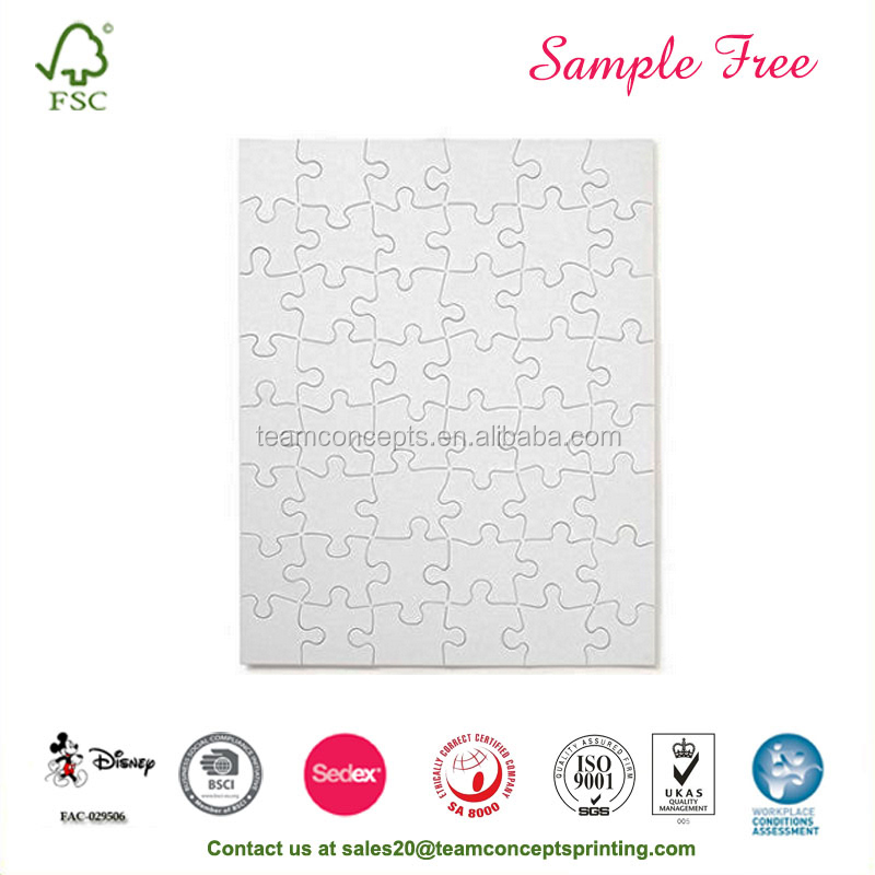 Personalized Sublimation Blank Jigsaw Puzzle