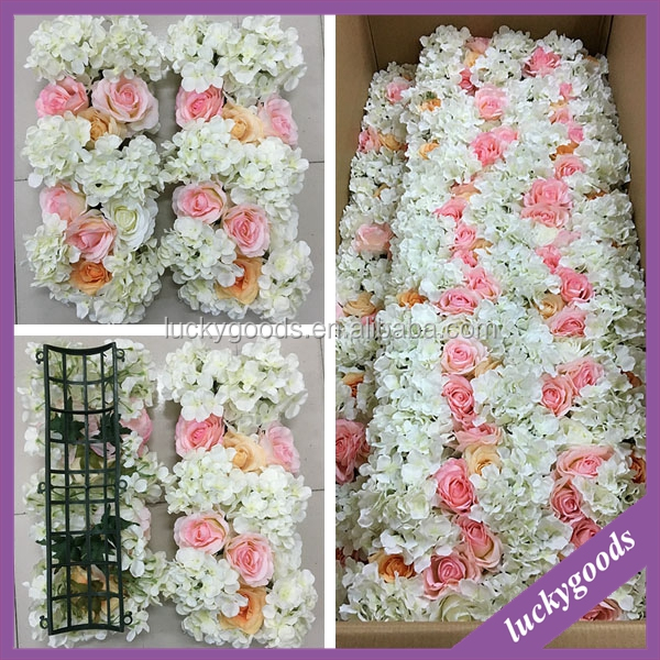 best selling custom made champagne and pink wedding decoration gate flower