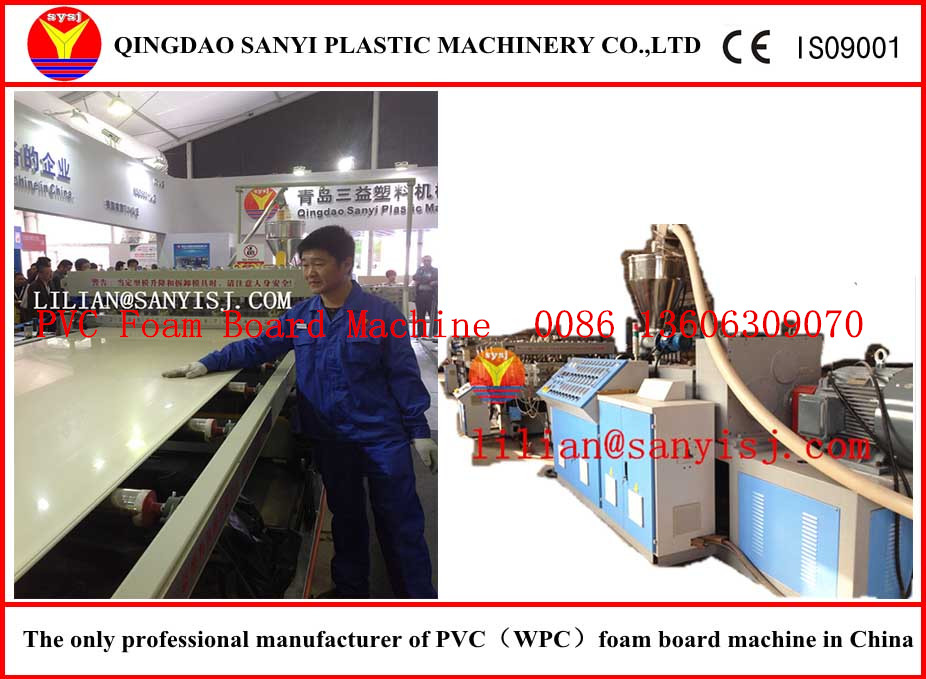 CE ISO9001 plastic foam board extrusion line (PVC board to instead of plywood)