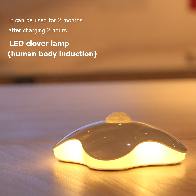 EEG Lighting Night light Four Leaf Clover lamps Motion Sensor NightLight PIR Intelligent LED Human Body Motion Induction Lamp