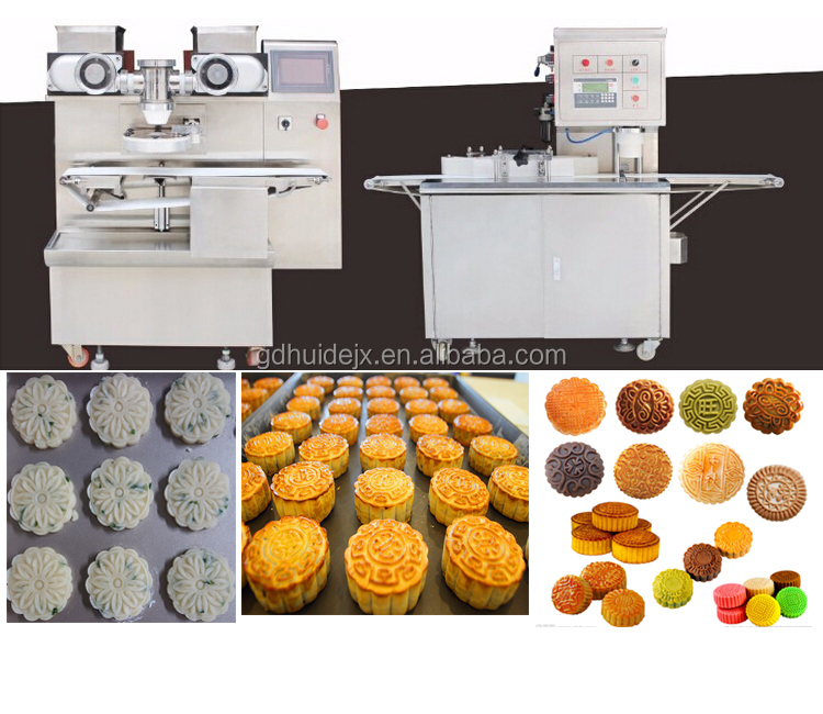 Producing of various stuffing moon cake filling machine with PLC