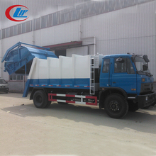 DONGFENG 4x2 190hp 12CBM 14CBM rear loader trash pack automatic garbage truck