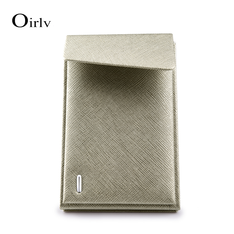 Oirlv Wholesale Custom High Quality PU Leather Folding Jewellery Holder Stand Jewelry Earrings Display Stands