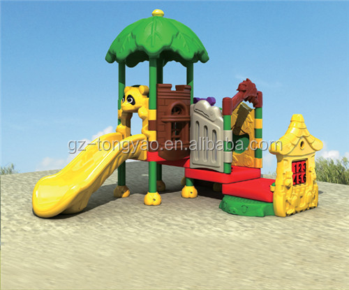 Animal theme Small Slides outdoor playground for children