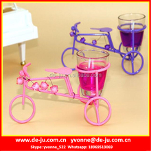 Stainless Steel Bicycle Holder Colorful Cheap Scented Candle