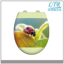 Disposable plastic no electric soft close toilet seat cover damper