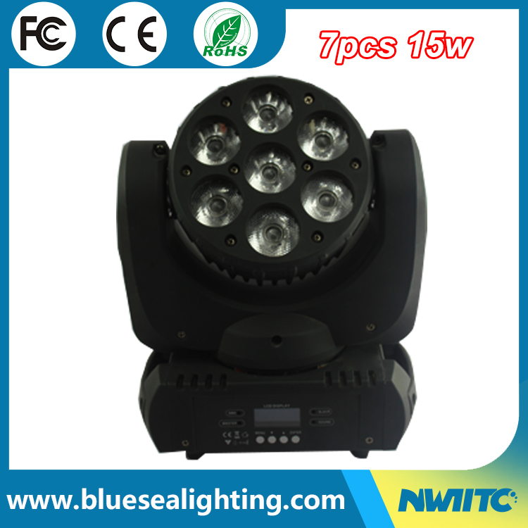 Disco light high power 7*15w 4in1 rgbw dmx beam led moving head