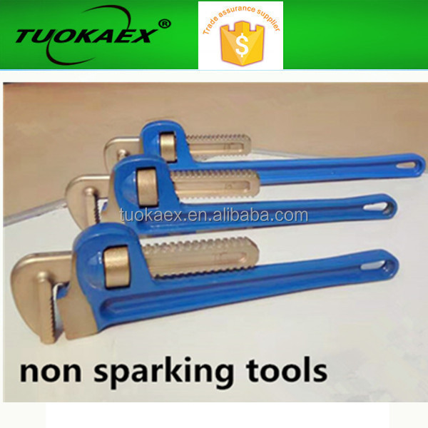 Aluminum bronze Non Sparking Pipe wrenches made in china
