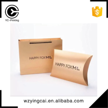 Elegant hair extension cheap gift bra packaging paper pillow boxes