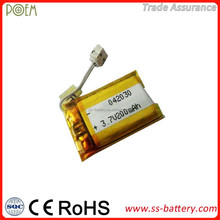 200mah small capacity rechargeable polymer li-ion battery 042030 cell