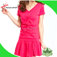 wholesale girls cheap summer blank sports dress jogging dress