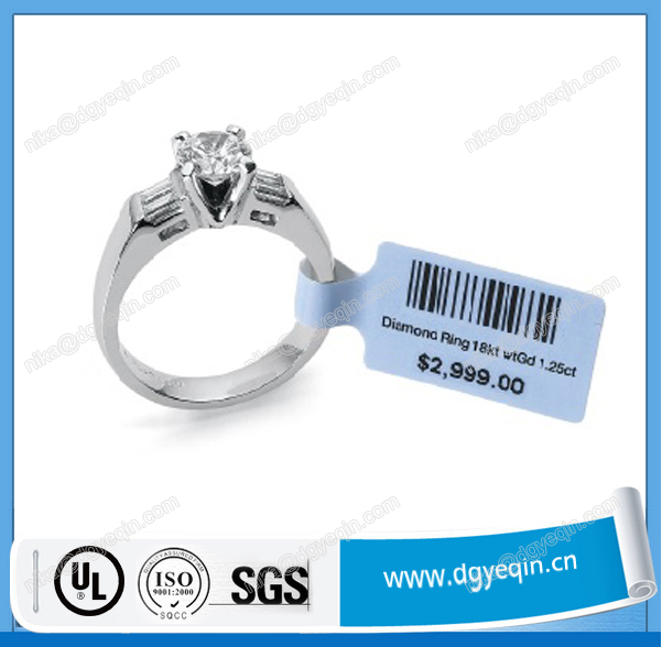 cheap oem part adhesive paper label for jewelry