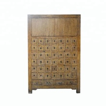 antique chinese solid wood pine medicine cabinet, furniture for stores