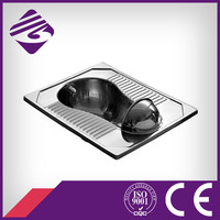 High quality stainless steel squatting pan toilet(JN49112D)