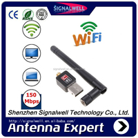 Signalwell [FREE SAMPLE]Mini USB 200M Wireless LAN Adapter 802.11b/n/g WiFi 2dBi Antenna 150Mbps Speed