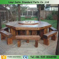 railway sleeper, wooden outdoor furniture,russia pine wood