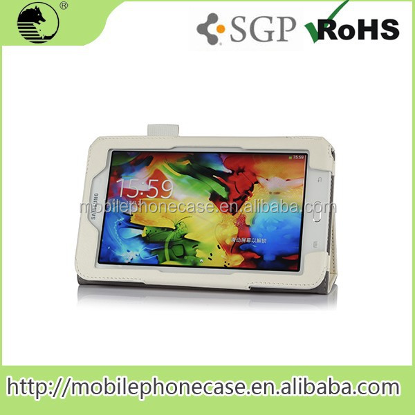 Thick White PU Tablet Cases 7 Inch Used Case For Samsung Galaxy Tab 3