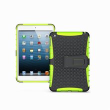 Hot Selling PC+Silicon Hybrid Case for iPad mini 4, For iPad mini 4 Combo Case With Unbreakable Robot Amor Design