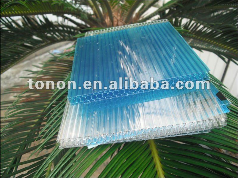 Honeycombed pc sheet/pc sun sheet for house decoration