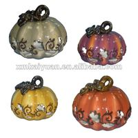 Halloween ceramic decorative pumpkin