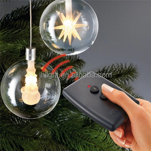 China supply large outdoor christmas plastic ball string light/Wireless LED Christmas Tree Light plastic ball string light