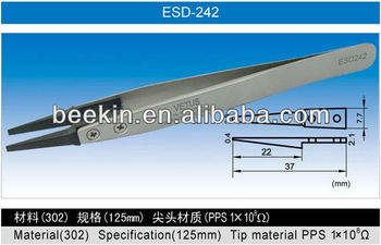 ESD Series Exchanged tip Anti-static Stainless Tweezers