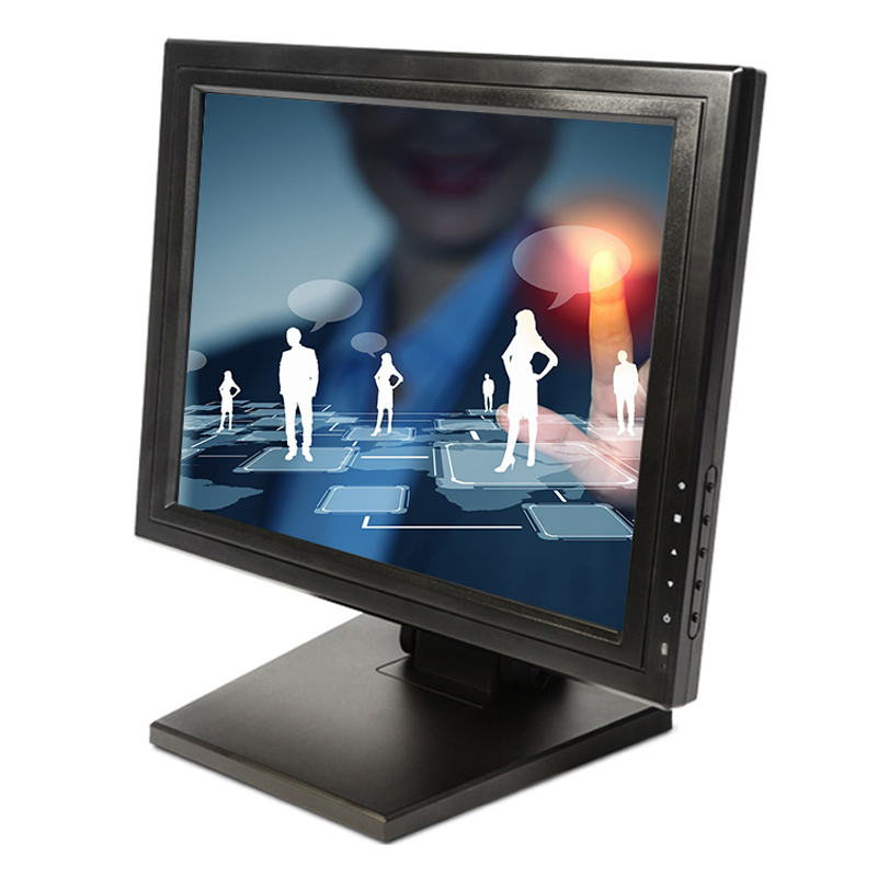 High quality 15 inch cheap touch screen monitor wall mount touch lcd monitor