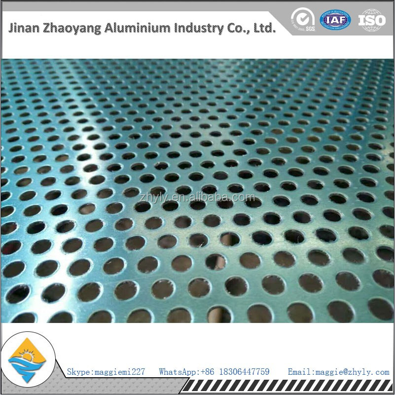 Chinese manufacturer supply high quality perforated aluminum plate