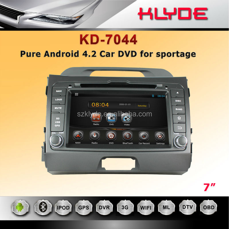 multi media touch screen car dvd for sportage