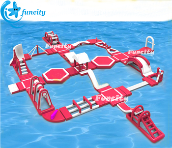 40mLx35mWX6mH Giant Inflatable Water Park , inflatable floating water park , Inflatable Water Park used on Seaside Resort