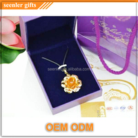 new product wedding gifts special design lovely flower 24k rose gold pendant