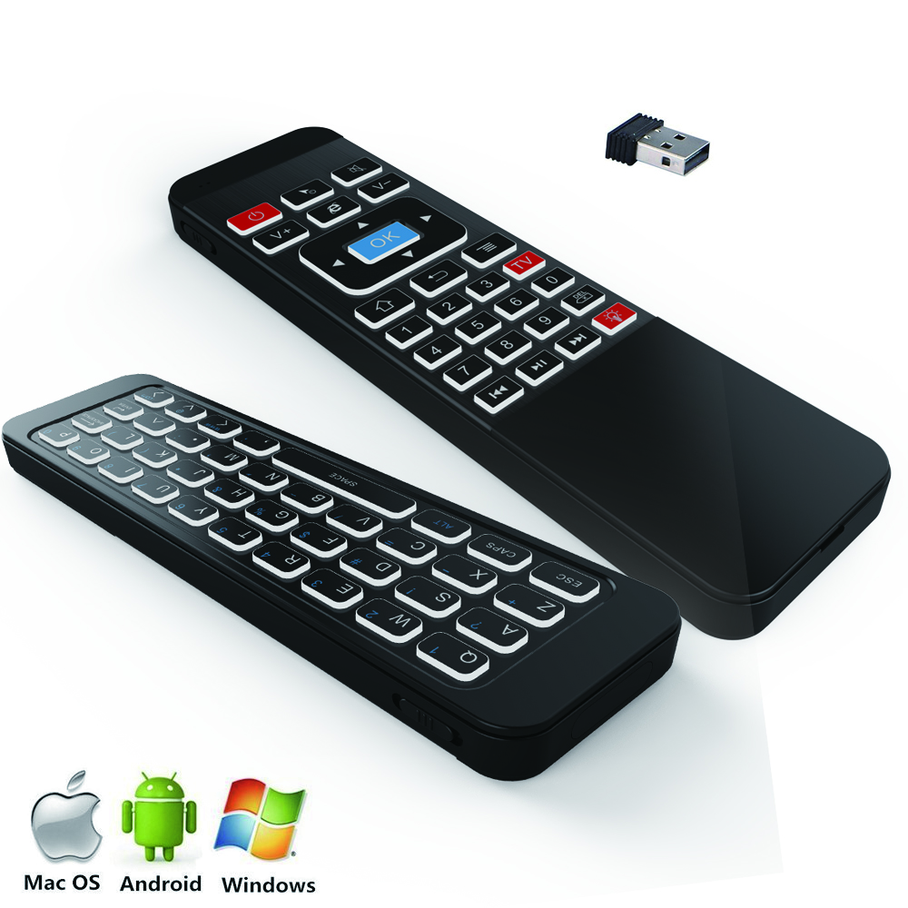New Arrival P3 Backlit Air Mouse Remote with Air Control Qwerty Keyboard for Android TV Box