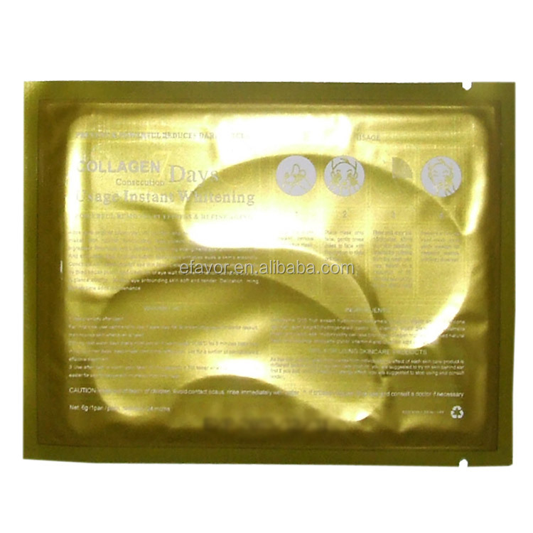 24K Nano Gold Collagen Crystal Eye Bag Mask for Aging Skin Moisturizing and Wrinkle Removal