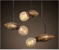 Industrial Bird Shape Suspension Lamp Modern Designed Wooden Ceiling Light for Hotel/Restaurant