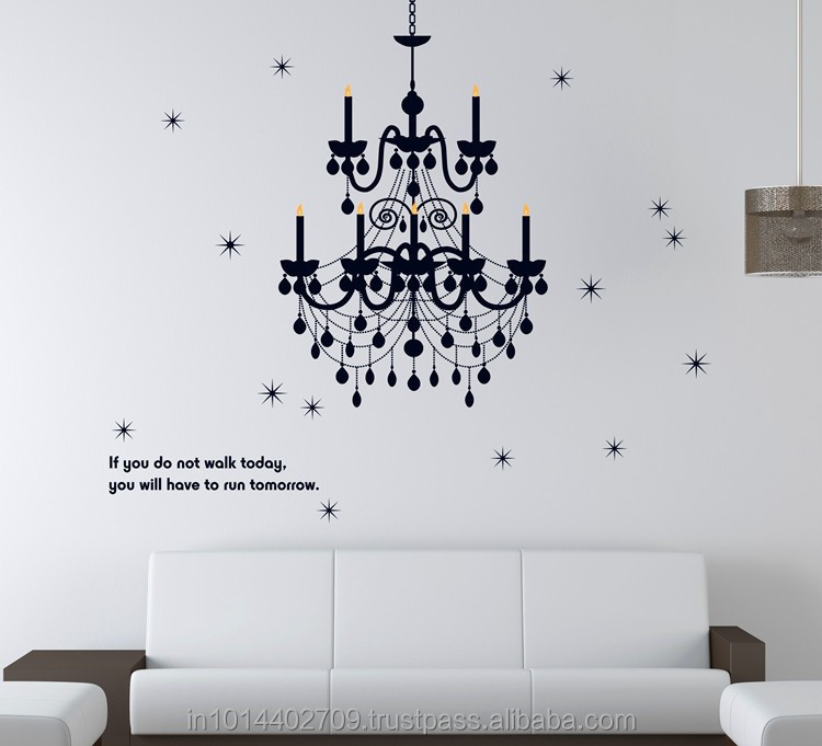 wall sticker beautiful lamp