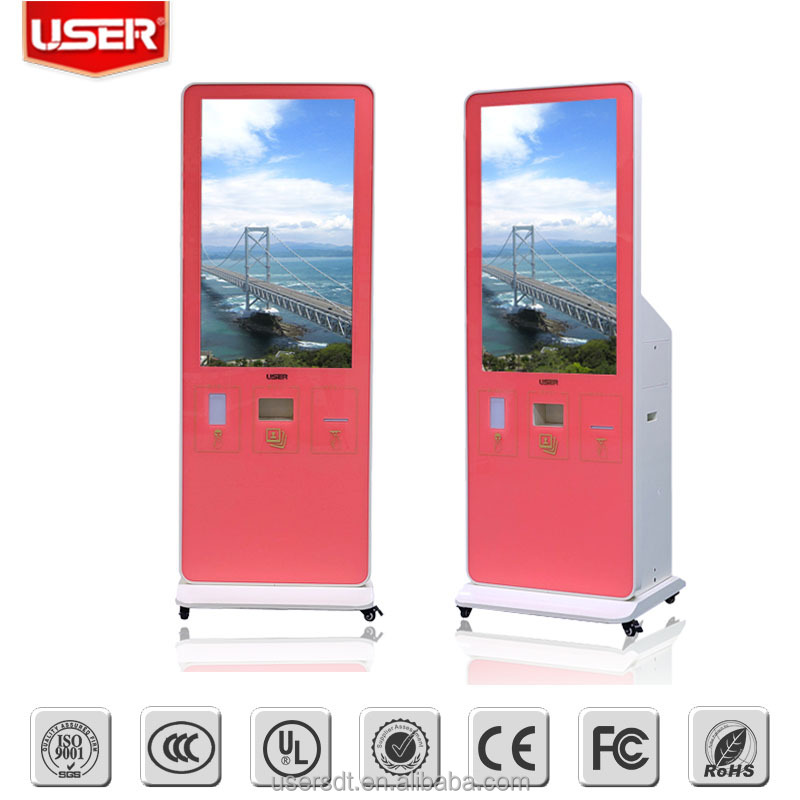 "46"" 55"" 60"" 65"" 75"" 84"" Modern design shopping mall digital signage wireless all in one photo booth machine for shoping mall"